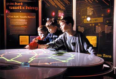 Exhibit Displaying Interaction at the Museum of Science and Industry
